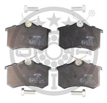 4250.56-1H0698451F- AUDI-VW REAR BRAKE PAD SET