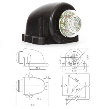 W25-133- WAS FRONT POSITION LIGHT (CLEAR) 12-24V